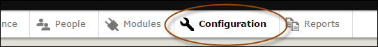 configuration toolbar option