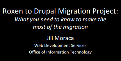 Drupal Migration coversheet