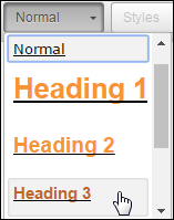 Headers pull down menu icon