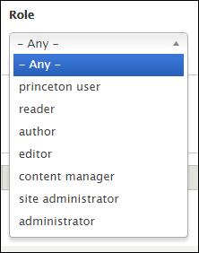 available roles in the template site currently