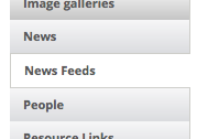 news feed widget category listing
