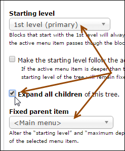 settings to change for a site map