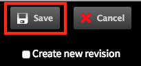 Save page configuration button