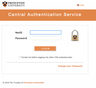 CAS authentication screenshot